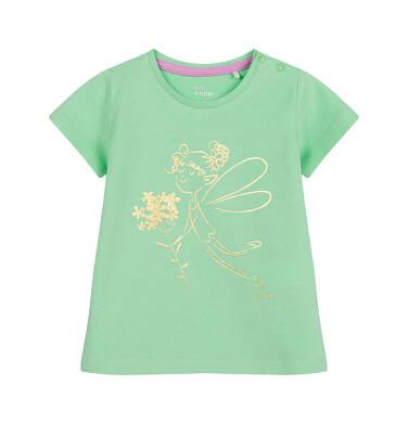 Endo - Bluzka dla dziecka do 2 lat, z wróżką, zielona N03G047_2 26