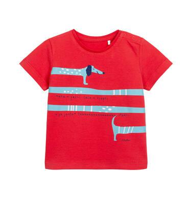 Endo - T-shirt dla dziecka do 2 lat, z jamnikiem, czerwony N05G056_1 4