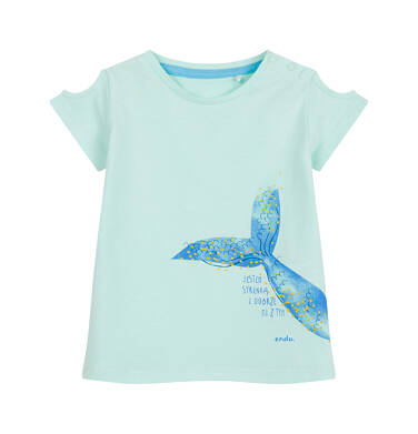 Endo - Bluzka dla dziecka do 2 lat, z syrenim ogonem, niebieska N03G053_2
