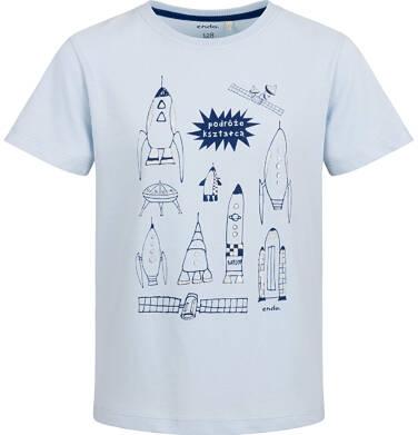 Endo - T-shirt z krótkim rękawem dla chłopca, z rakietami, niebieski, 9-13 lat C03G616_1 50