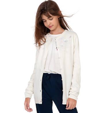 Endo - Sweter dla dziewczynki, z aplikacją 3D, porcelanowy, 9-13 lat D03B501_1 63