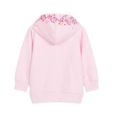 Endo - Bluza z kapturem dla dziecka do 3 lat, kieszeń typu kangur, różowa N92C022_1