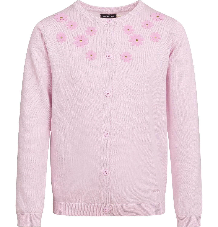 Endo - Sweter dla dziewczynki, z aplikacją 3D, różowy, 2-8 lat D03B001_3