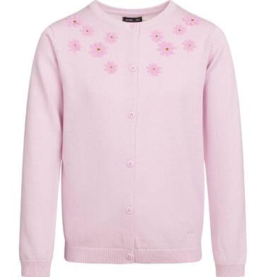 Sweter dla dziewczynki, z aplikacją 3D, różowy, 2-8 lat D03B001_3