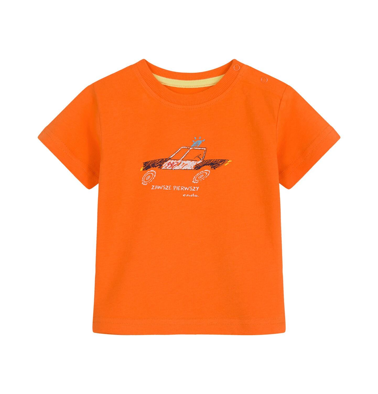 Endo - T-shirt dla dziecka do 2 lat, z policją, pomarańczowy N03G059_1