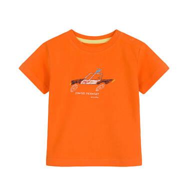 T-shirt dla dziecka do 2 lat, z policją, pomarańczowy N03G059_1