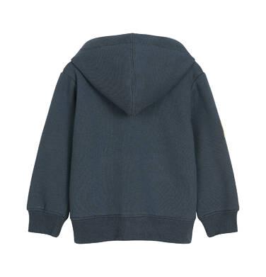 Endo - Rozpinana bluza z kapturem dla dziecka do 3 lat, z niedźwiedziem, ciemnopopielata N92C027_1