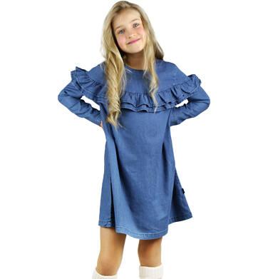 Endo - Sukienka z długim rękawem dla dziewczynki 9-13 lat D92H501_1