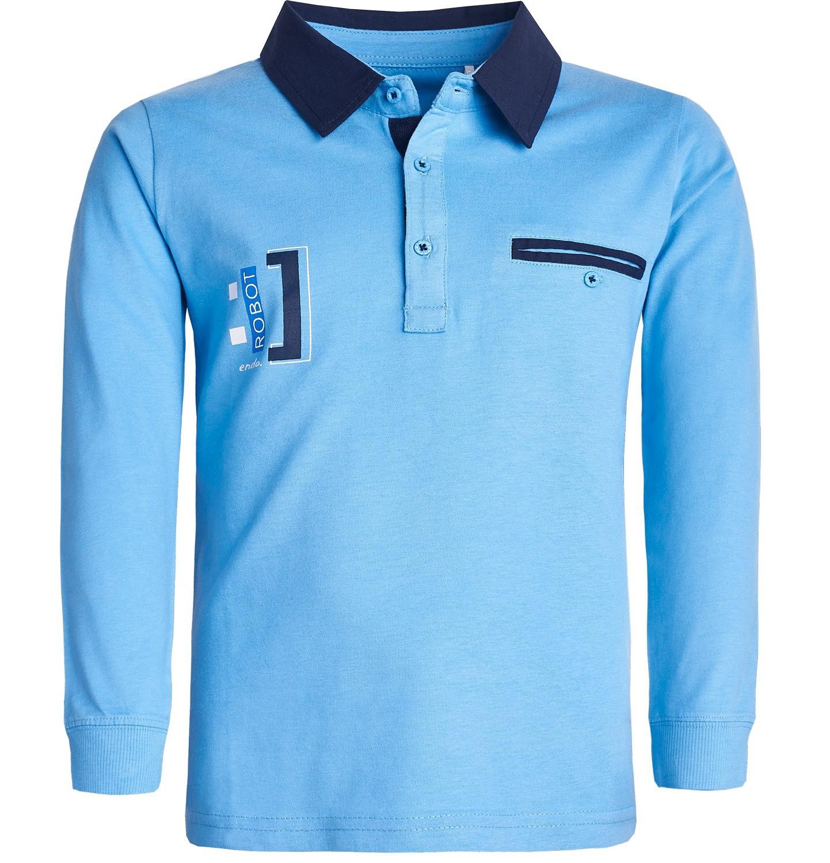 Endo - Koszulka polo z długim rękawem dla chłopca 3-8 lat C82G088_1