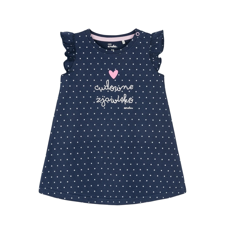 Endo - Sukienka z krótkim rękawem dla dziecka 0-3 lata N91H040_1