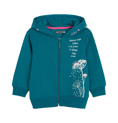 Bluza rozpinana z kapturem dla dziecka 0-3 lata N92C018_1