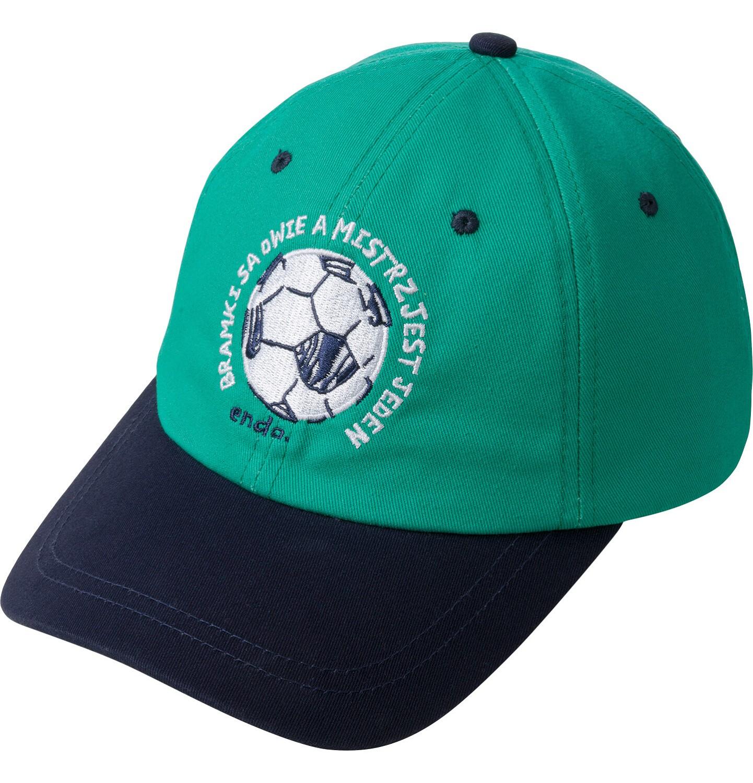 Endo - Czapka z daszkiem dla chłopca, z piłką, zielona C03R023_1
