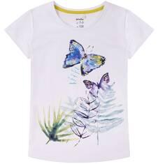Bluzka z krótkim rękawem dla dziewczynki 9-13 lat D71G649_1