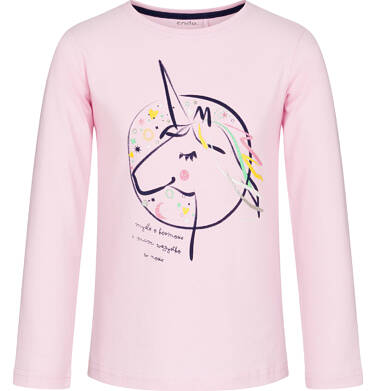 Endo - Bluzka z długim rękawem dla dziewczynki, myślę o kosmosie, różowa, 9-13 lat D92G588_2