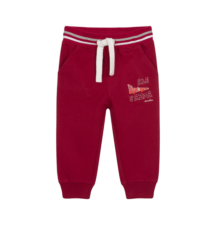 Endo - Spodnie dresowe dla dziecka do 2 lat, bordowe N04K012_1