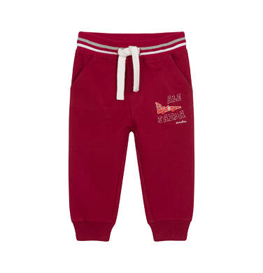 Endo - Spodnie dresowe dla dziecka do 2 lat, bordowe N04K012_1 3
