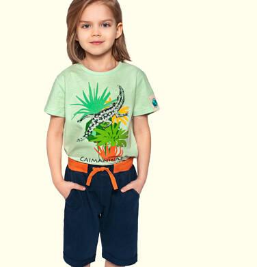 Krótkie spodenki dresowe dla chłopca, granatowe, 2-8 lat C05K032_3