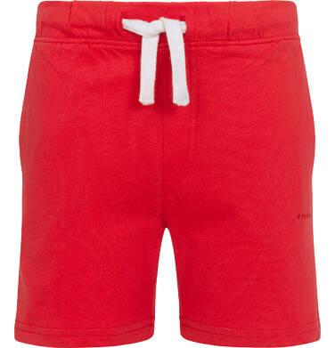 Krótkie spodenki dla chłopca, z kieszonką z tyłu, czerwone, 2-8 lat C05K046_3