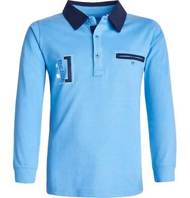 Koszulka polo z długim rękawem dla chłopca 9-13 lat C82G588_1