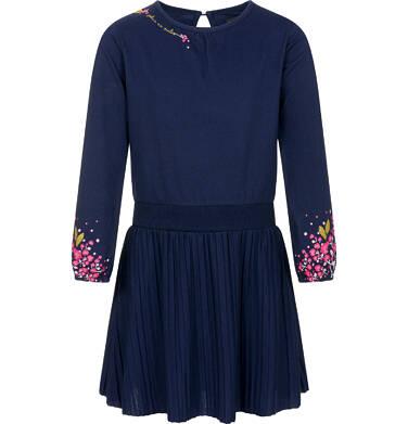 Endo - Sukienka z długim rękawem dla dziewczynki 9-13 lat D92H551_1 3