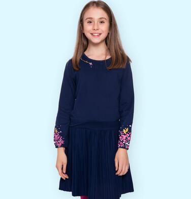Endo - Sukienka z długim rękawem dla dziewczynki 9-13 lat D92H551_1 18