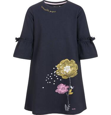 Endo - Sukienka z długim rękawem dla dziewczynki 9-13 lat D92H552_1