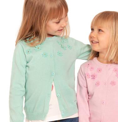 Endo - Sweter dla dziewczynki, z aplikacją 3D, miętowy, 2-8 lat D03B001_2 14
