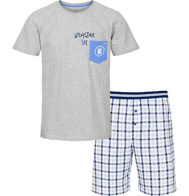 Piżama męska z krótkim rękawem Q91V003_1
