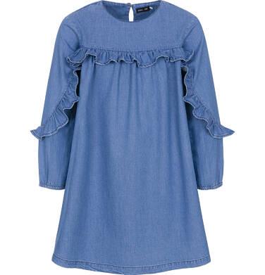 Endo - Sukienka z długim rękawem dla dziewczynki 9-13 lat D92H503_1