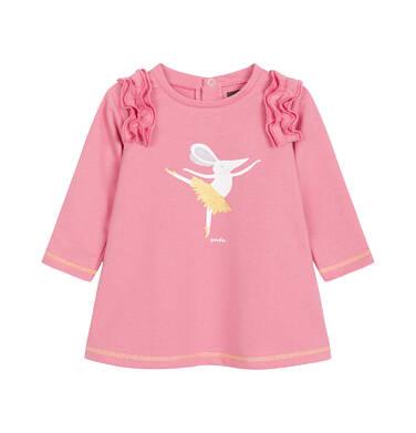 Sukienka z długim rękawem dla dziecka 0-3 lata N92H035_1