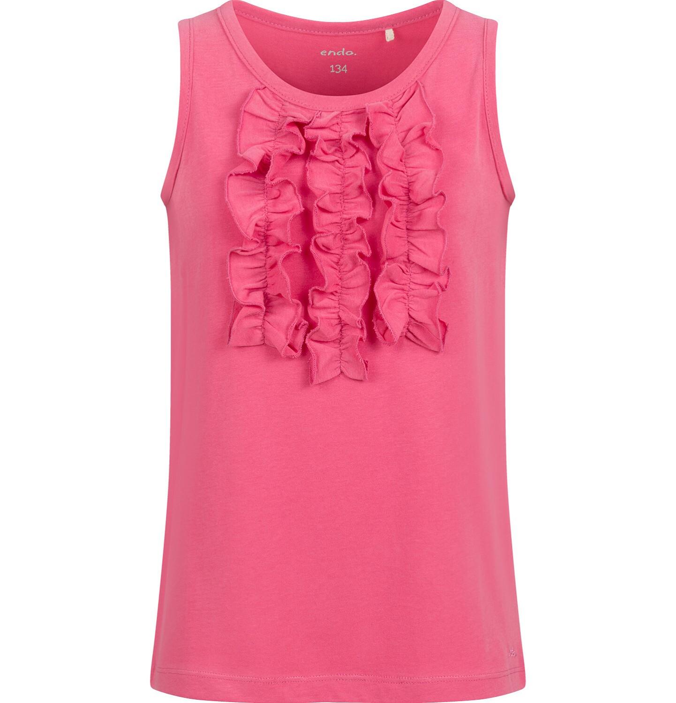 Endo - T-shirt na ramiączkach dla dziewczynki, czerwony, 9-13 lat D03G547_1
