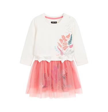 Endo - Sukienka z długim rękawem dla dziecka 0-3 lata N92H037_1