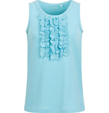 Endo - T-shirt na ramiączkach dla dziewczynki, niebieski, 2-8 lat D03G047_2 21
