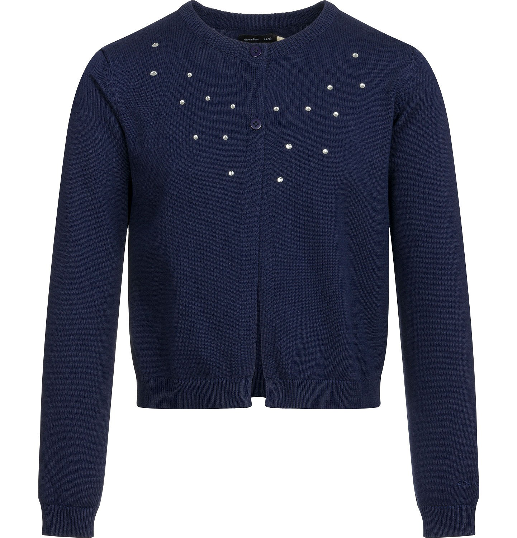 Endo - Sweter dla dziewczynki, rozpinany, granatowy, 2-8 lat D03B002_1