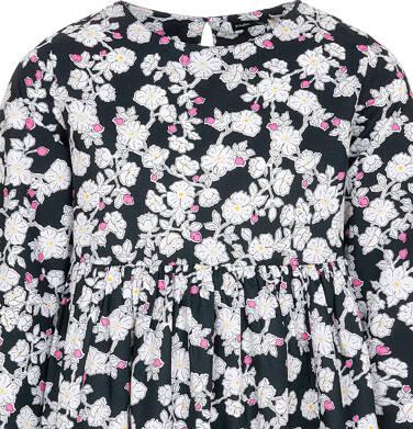 Endo - Sukienka z długim rękawem dla dziewczynki, deseń w kwiaty, 9-13 lat D92H508_1 1
