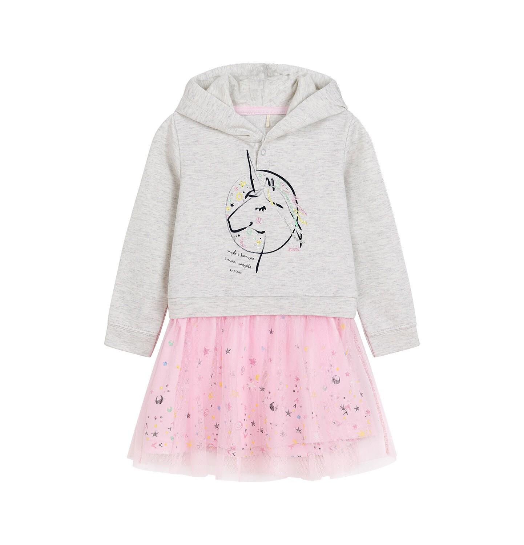 Endo - Sukienka z długim rękawem dla dziecka 0-3 lata N92H040_1