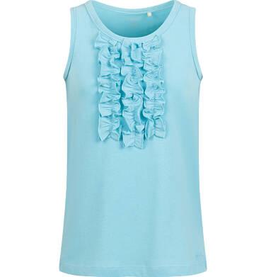 Endo - T-shirt na ramiączkach dla dziewczynki, niebieski, 9-13 lat D03G547_2 168