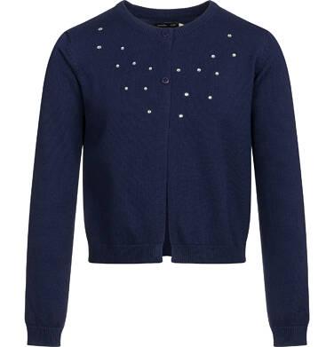 Sweter dla dziewczynki, rozpinany, granatowy, 9-13 lat D03B502_1