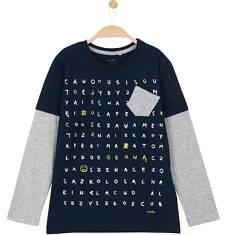 T-shirt z odcinanymi rękawami dla chłopca 3-8 lat C62G006_1