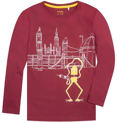 Endo - T-shirt z długim rękawem dla chłopca 9-13 lat C72G550_1