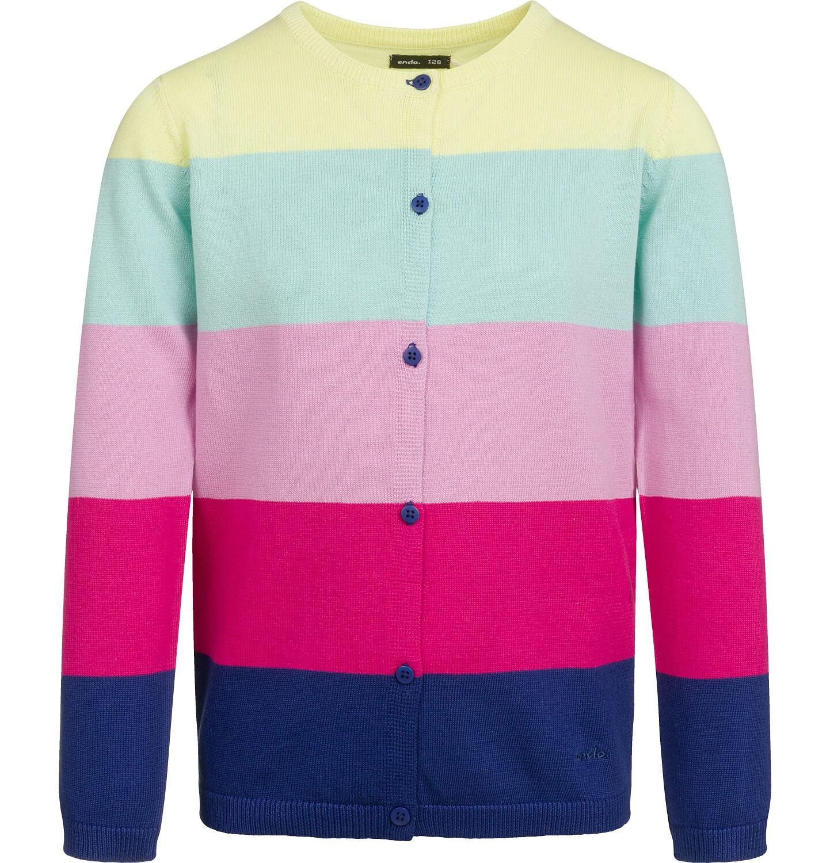 Endo - Sweter dla dziewczynki, w tęczowe pasy, kolorowy, 2-8 lat D03B005_1