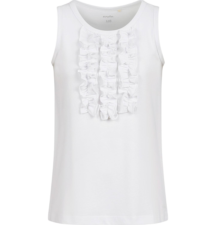 Endo - T-shirt na ramiączkach dla dziewczynki, biały, 9-13 lat D03G547_3