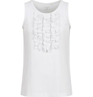 Endo - T-shirt na ramiączkach dla dziewczynki, biały, 9-13 lat D03G547_3 167