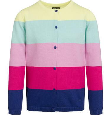 Endo - Sweter dla dziewczynki, w tęczowe pasy, kolorowy, 9-13 lat D03B505_1 27