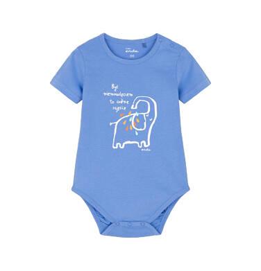 Body z krótkim rękawem dla dziecka 0-3 lata N91M011_1
