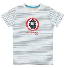 T-shirt w paski dla chłopca C61G078_1