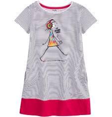 Sukienka trapezowa dla dziewczynki 9-13 lat D71H525_1