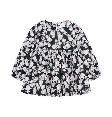 Endo - Sukienka z długim rękawem dla dziecka do 3 lat, kwiatowy nadruk N92H006_1