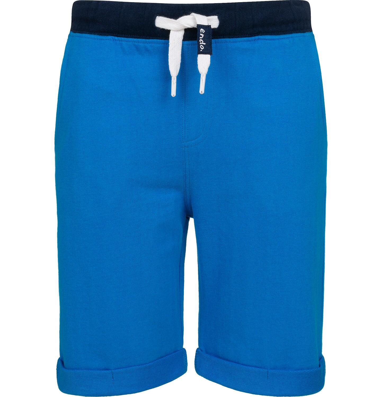 Endo - Krótkie spodenki dresowe dla chłopca, niebieskie, 2-8 lat C05K034_3
