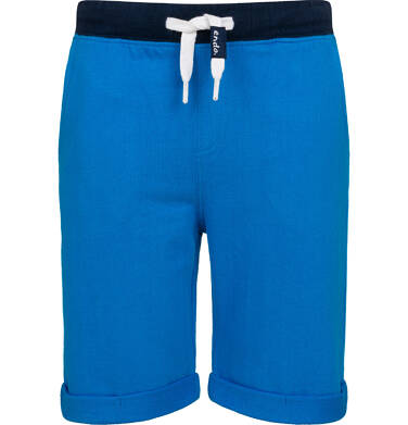Krótkie spodenki dresowe dla chłopca, niebieskie, 2-8 lat C05K034_3